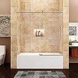 Bathtub sliding doors amazon sunny shower 56 60 w x 62 h fully frameless sliding bathtub planetlyrics Images