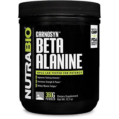 NutraBio Beta Alanine (Carnosyn) Powder - 360 Grams