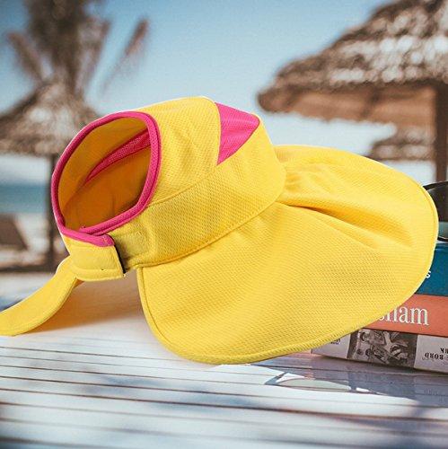 Pliable Chapeau Eté soleil Ahatech Anti Soleil De Femme Casquette Jaune Voyage wIxpqf
