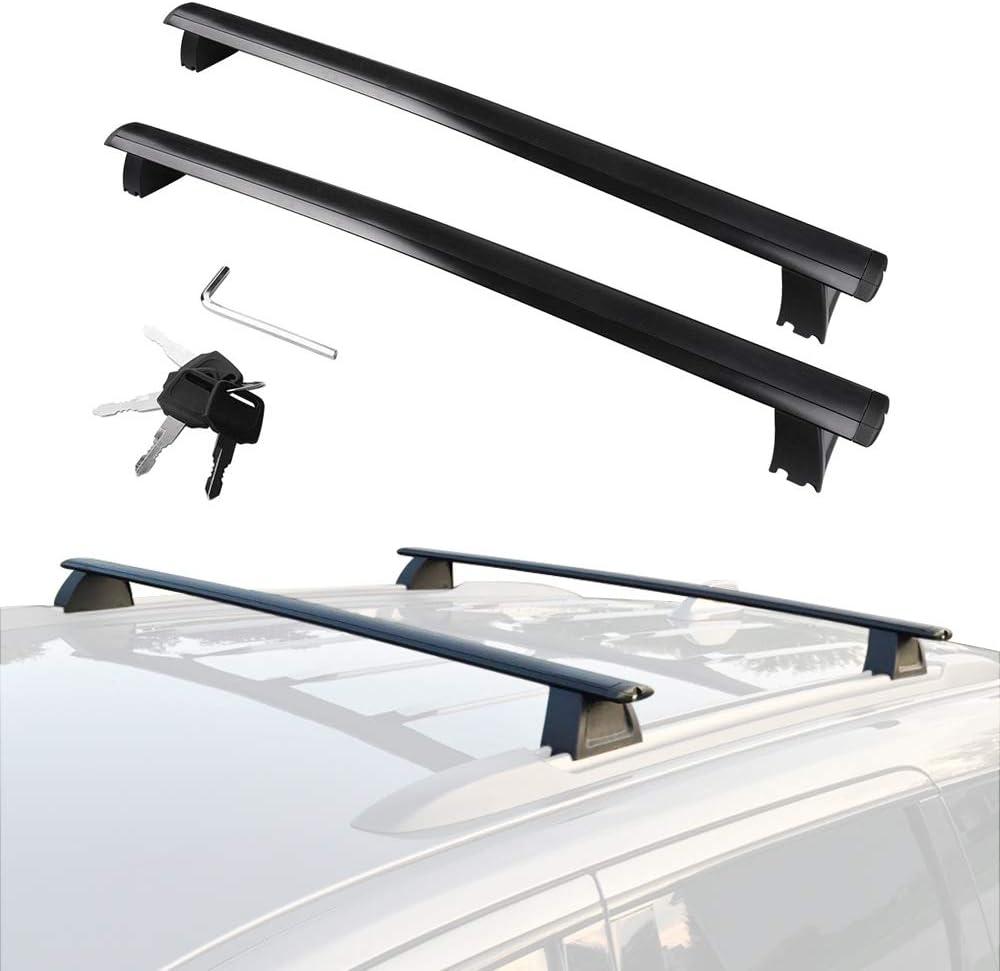 Amazon Com Yitamotor Cross Bars Roof Racks Compatible For 2011 2020 Jeep Grand Cherokee Rooftop Luggage Crossbars With Anti Theft Locks Carrying Cargo Carrier Bag Canoe Kayak Bike Automotive