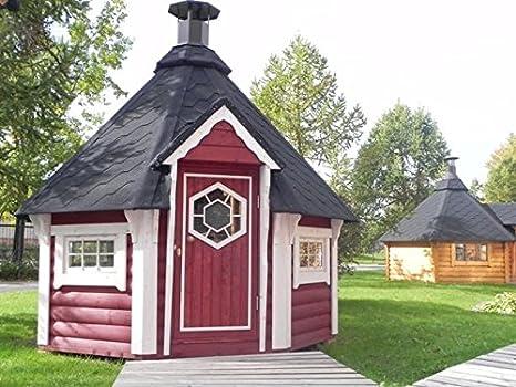 Junit GKF06901, 6, 9 m2, caseta para Barbacoa, de madera de abeto para aprox. 7 personas.: Amazon.es: Jardín
