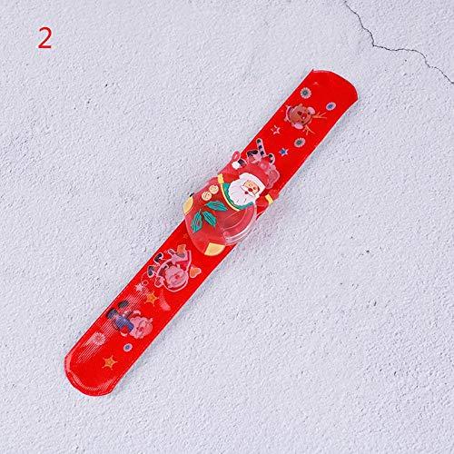 Pendant Drop Ornaments - 1pcs Christmas Slap Circle Bracelet Wrist Band Children Reindeer Lovely Kids Gifts Wholesale - Bracelet BraceletLove Heart Woman Yellow Bracelet Couple Love C