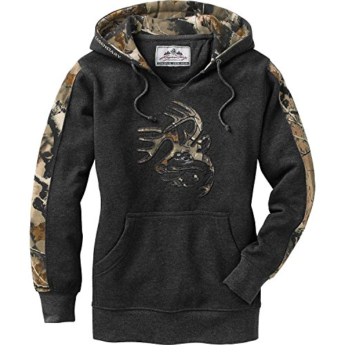 (Legendary Whitetails Ladies Outfitter Hoodie Charcoal Heather Small)