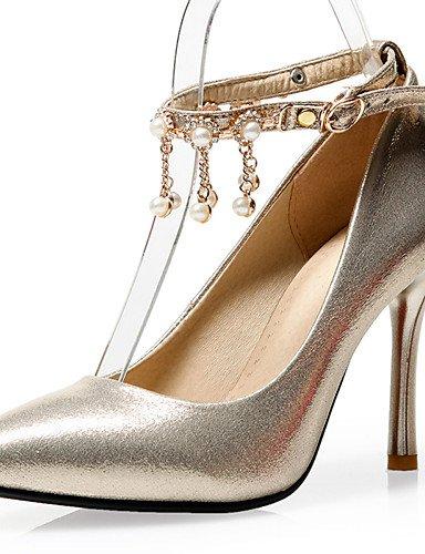 ZQ Zapatos de boda-Tacones-Tacones / Pump B¨¢sico / Puntiagudos-Boda / Vestido / Fiesta y Noche-Rojo / Plata / Oro-Mujer , 3in-3 3/4in-red 3in-3 3/4in-red