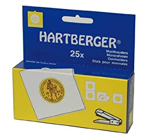 Lindner 8331043 HARTBERGER®-Coin holders-pack of 1000 by Hartberger