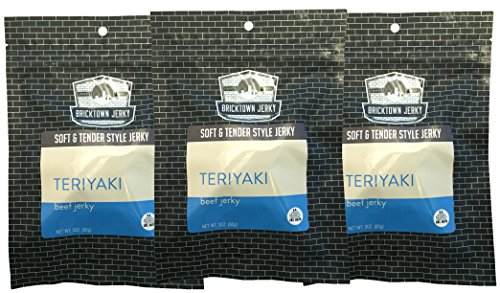 Teriyaki Soft and Tender Style Best Beef Jerky - 3 PACK - Try Our Best Tasting Soft Beef Jerky - 9 total ()