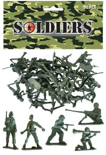 Spielzeug Soldaten–Tasche von 80kleinen Spielzeug Soldaten