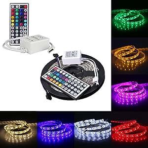 5M RGB 5050SMD 300LED Waterproof Flexible LED Light Strip+44Key IR Remote
