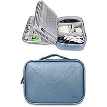 BUBM Portable Multi-functional Digital Storage Bag Electronic Accessories Travel Organizer Bag Data Cable Organizer (Blue)