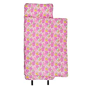 Wildkin Original Nap Mat, Features Built-In Blanket and Pillow, Perfect for Daycare and Preschool or Napping On-the-Go – Fairies