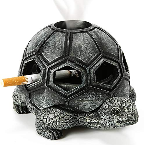 Turtle Ashtray Cute Ash Tray Premium Ashtrays for Cigarettes Special Outdoor Decor Unique Tabletop Give a Mood Decorative Home Office Porch Yard Gift Christmas Birthday Special Day Present