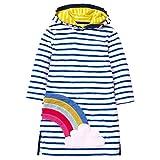 VIKITA 2018 Toddler Girl Dresses Long Sleeve Rainbow Hoodies for Girls 3-8 Years SMK085 Blue, 8T