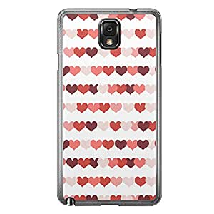 Loud Universe Samsung Galaxy Note 3 Love Valentine Printing Files A Valentine 80 Printed Transparent Edge Case - Multi Color