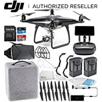 DJI Phantom 4 PRO+ PLUS Obsidian Edition Drone Quadcopter Includes Display (Black) Virtual Reality Experience VR Essentials Bundle