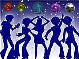 """10"""" x 7.5"""" Disco / Discotheque Night Club Edible"""