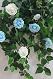 Floroom Artificial Flowers 25pcs Real Looking Ivory