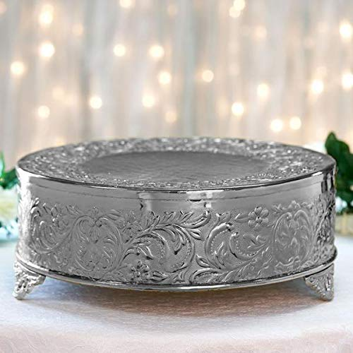 cake silver plateau wedding