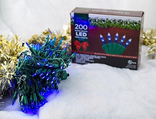 Blue Led Christmas Light Strings in US - 7