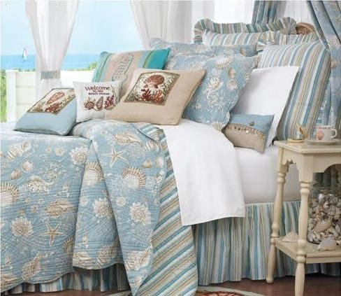 C&F Home Natural Shells Full/Queen Quilt 90x92 - Coastal Theme by C&F Home