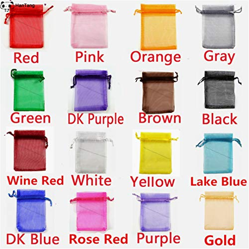 Christmas Gift Organza Bag Jewelry Bag Gift Bag Wedding Supplies R omly Mix color 9x12cm