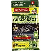 Evert-Fresh Green Bags Produce Saver, 10 Pack, Large