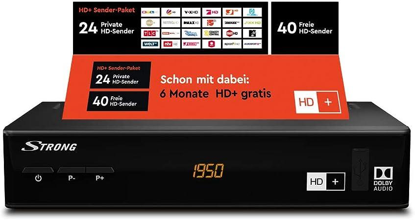 Strong Srt 7806 Hd Satellite Receiver For Hd Plus With Hd Card Dvb S2 Full Hd Hdtv Hdmi Lan Scart Usb Black Home Cinema Tv Video