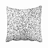 zebra snow brush - Emvency Watercolor Mezzotint Blob Noise Abstract Artistic Black Blot Brush Chaotic Circle Throw Pillow Covers 18x18 inch Decorative Cover Pillowcase Cases Case Two Side