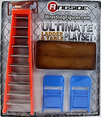 Ultimate Ladder /& Table Playset Ringside Exclusive Figure Accessories Orange