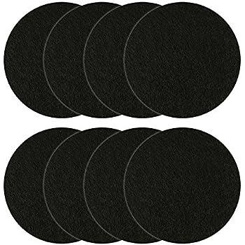 Amazon.com: Juego de 12 filtros redondos de carbón para ...