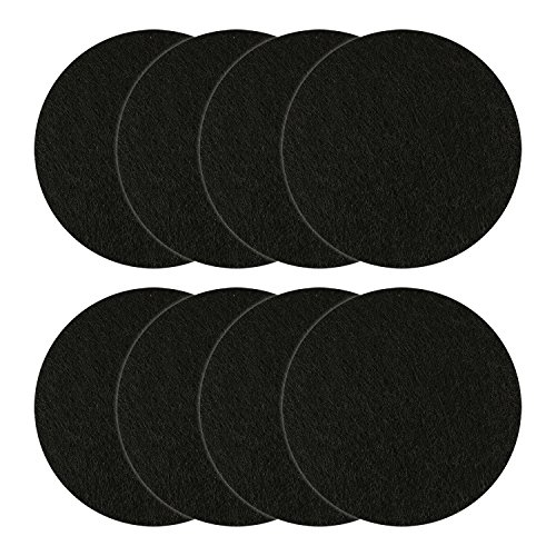 (Resinta 8 Pieces Replacement Compost Bin Filters Kitchen Activated Carbon Compost Pail Filters for Ceramic Compost Keeper, 5.5 Inches )