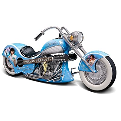 Elvis: Rockin' & Rollin' Chopper Sculpture by The Bradford Exchange