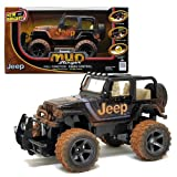 New Bright MUD Slinger Series 1:15 Scale Full Function Radio Control Car - Sport Utility Vehicle SUV Black Color JEEP WRANGLER with Transmitter, 2 Antenna Tubes and Instruction Manual (Dimension: 12' L x 8' W x 7' H)