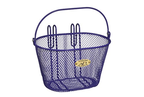 Nantucket Bicycle Basket Co. Surfside Child Mesh Wire Basket, Purple