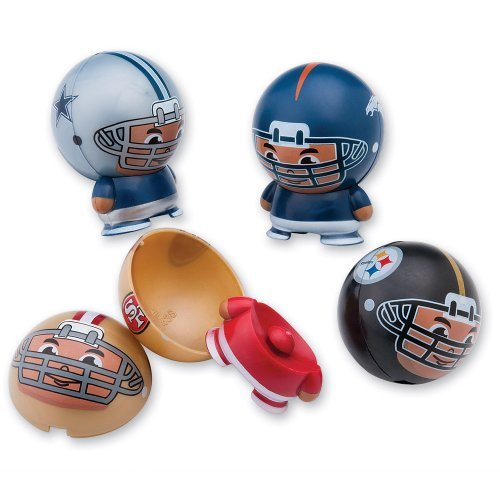 NFL Buildable Figurines - Sports Team Collectibles - 25 Per Pack by SmileMakers Inc