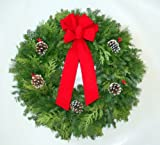 Christmas Wreath (Made of Balsam and Pine) 24 Inch