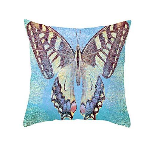 QBQCBB Polyester Elk Pillow Case Cover Sofa Car Throw Waist Cushion Cover Home Decor(J) (Trellis Chain)