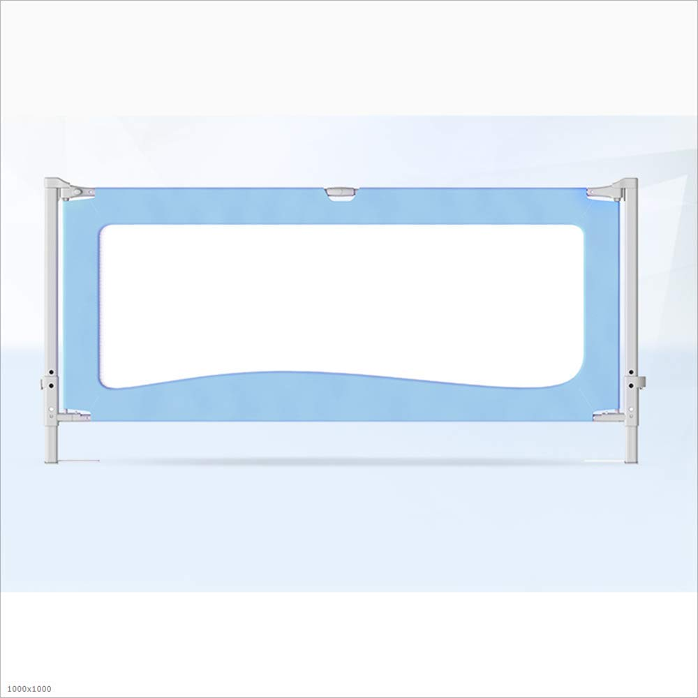 HUO 垂直リフティングベッド耐衝撃性ベッドサイドバッフルベッドフェンス (色 : 青, サイズ さいず : 200cm) 200cm 青 B07L75965R