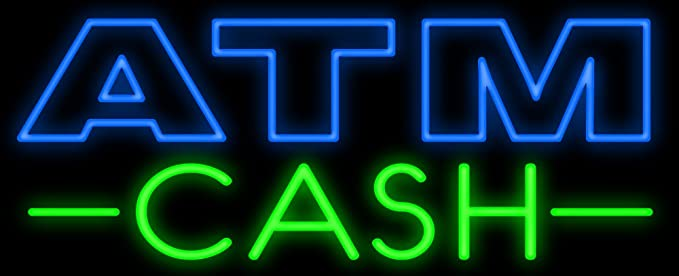 Amazon.com: ATM Cash Neon - Cartel de neón, fabricado en EE ...