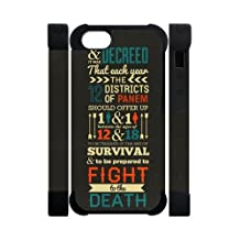 2014 Retro Vintage CLASSIC The Hunger Games QUOTES iPhone 5 5s Case Best Durable Silicone Phone Case for iPhone 5/5s