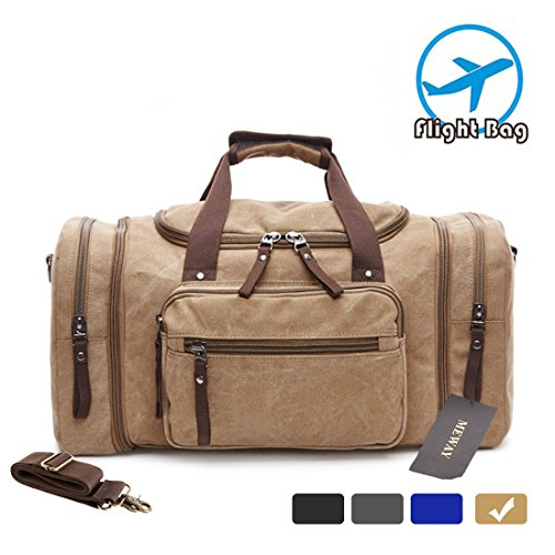 MEWAY Canvas Duffle Bag Travel L...