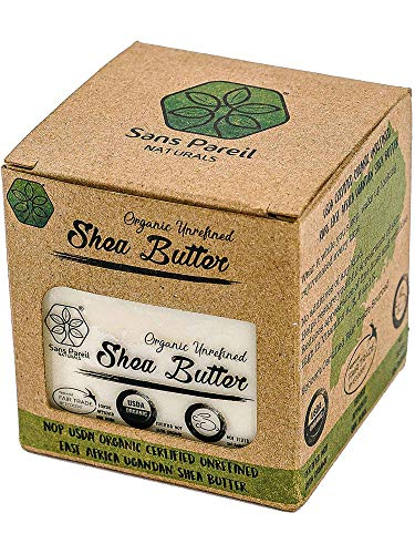 Worlds Best USDA Certified Organic Shea Butter: Highest Quality Unrefined Rare Nilotica, Certified Fair-Trade - Nourishes, Replenishes and Protects Skin and Hair - 8oz