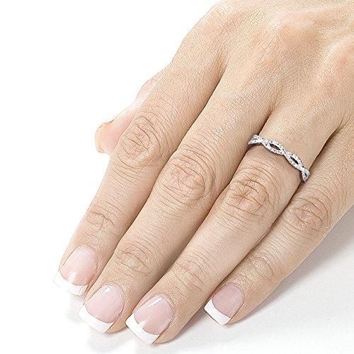 Round Diamond Braided Wedding Band 1 6 Carat Ctw In 14K White Gold