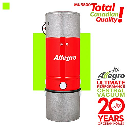 Allegro MU5800 DaVinci 10,000 Square Feet Central Vacuum Power Unit