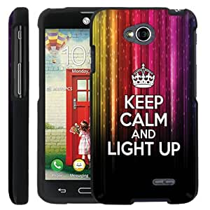 [ManiaGear] Design Graphic Image Shell Cover Hard Case (Keep Clam And Light Up) for LG Optimus L70 / LG Optimus Exceed 2