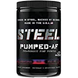 Steel Supplements Pumped-AF Pre Workout Powder Energy Drink High Intensity 30 Servings (Blitz Berry)