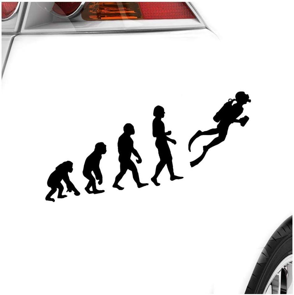 Kiwistar Evolution Taucher Schnorcheln 20 X 7 Cm In 15 Farben Neon Chrom Sticker Aufkleber Auto