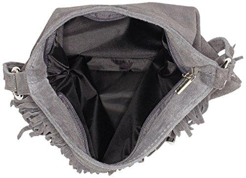 Bags4Less Damen Tipsi Umhängetasche, 10x30x30 cm Grau (Grau)