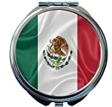 Rikki Knight Mexico Flag Design Round Compact Mirror
