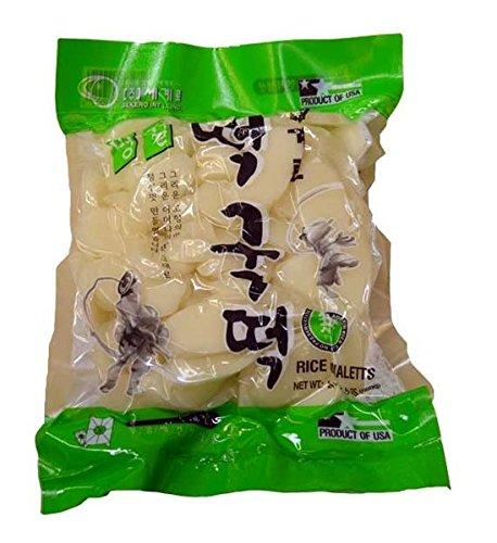 Sekero rice cake,Korean rice cake, Rice Ovaletts, 24oz/pk (Pack of 1)