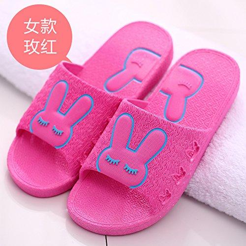 bagno pantofole coppie cool antiscivolo da in rosso fankou pantofole home spiaggia donna cartoon scarpe 35 estate carino Uomini qXzz58wpg